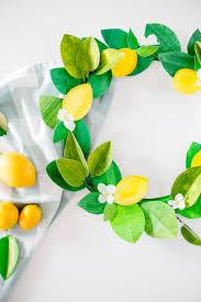 paper lemon wreath diy craftberrybush 22
