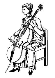 Kleurplaat Cello Afb 9348 Images