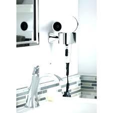 hair appliance holder wall mount bathroom appliance holder wall mounted hair dryer holder in brushed nickel