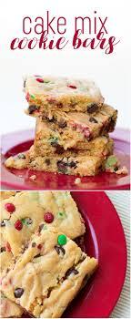 Cake Mix Cookie Bars Recipe - easy last minute dessert!