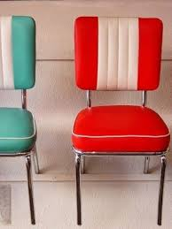 red retro chairs. 50s Retro Colorful Vinyl Chairs Love The Striping On These Red E