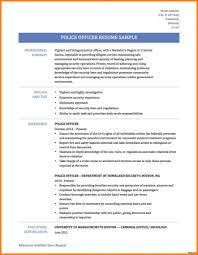 Former Police Officer Sample Resume Easy Write Objective Examples