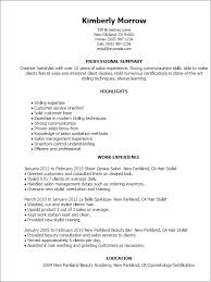 Resume Templates: Hair Stylist