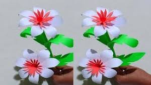 How To Make A Beautiful Flower With Paper How To Make Beautiful Flower For Paper