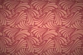 free art nouveau leaf curls seamless wallpaper patterns