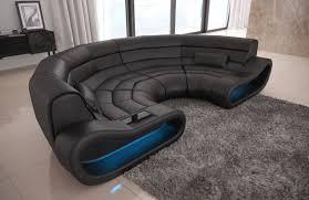modular sectional sofa concept u shape with led lights black