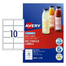 Avery Jar Labels Waterproof Bottle Jar Labels Avery Australia
