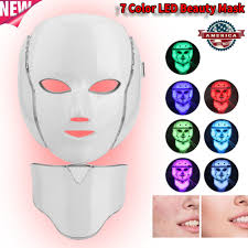 Led Light For Skin Details About 7color Led Light Photon Face Neck Beauty Mask Rejuvenation Skin Wrinkles Therapy