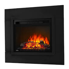 electric log fireplace insert with trim kit