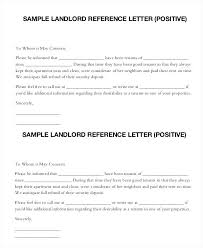 Free Reference Letter Sample Stunning Landlord Tenant Reference Letter Rental Application For