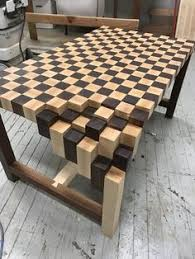 unique wooden furniture designs. Walnut \u0026 Maple End Grain Coffee Table. Custom Waterfall Leg That Gives The  Table Its. DIY Furniture PlansFurniture DesignArt Unique Wooden Furniture Designs