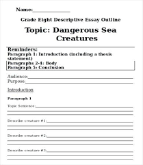 Word Research Paper Template Descriptive Essay Word Documents Outline Template Pdf