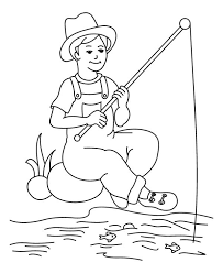 Small Picture A Fisherman Boy Coloring Page Coloring Sky