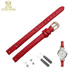 genuine leather bracelet strap women fashion watchband small band 7mm 8mm for fossil es4340 es4119 es4000