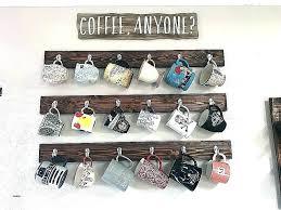 coffee mug display shelf wall shelves best of rack hanging mugs on the walls hi she