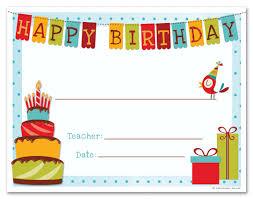 Sample Birthday Gift Certificate Template
