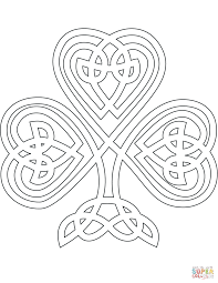 Small Picture Celtic Style Shamrock coloring page Free Printable Coloring Pages