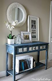 terranean blue entry table design