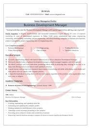 Business Development Sample Resumes Download Resume Format Templates