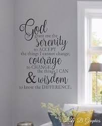 serenity prayer vinyl wall quote art decor