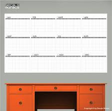 yearly wall calendar dry erase dry erase wall decal yearly blank calendar office by
