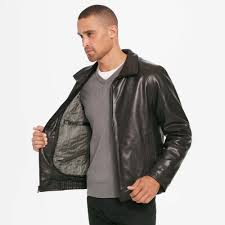 wilsons leather big tall contemporary lamb er jacket w zip out thinsulatetm lining in black for men lyst