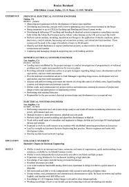 Electrical Systems Engineer Resume Samples Velvet Jobs