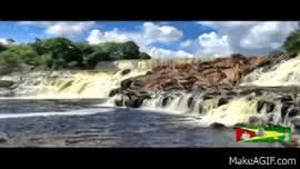 ORINDUIK FALLS-GIRLS BATHING-BARTICA-AVA HICKS-GUYANA. on Make a GIF