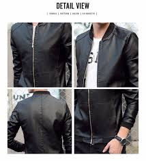 motorcycle leather jacket men casual fashion solid red leather jacket men suede 2016 luxury brand clothing