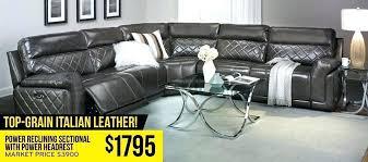 the dump dallas tx furniture power reclining sectional with headrest daiquiri