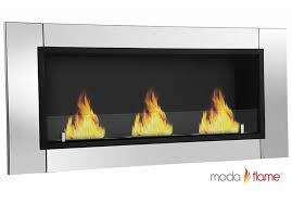 devant ventless wall mounted stainless steel ventless fireplace by moda flame