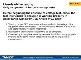 Nfpa 70e Ppe Chart 2017 Fluke Electrical Safety Measurement Webinar Transcat