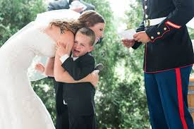 Four-Year-Old Cries When New Stepmom Reads Him Vows During Wedding