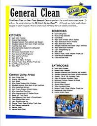 Residential House Cleaning Checklist Jcs Cleaning Forms
