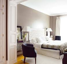 Winsome Bedroom Design With Purple Wall Paint Decoration Along