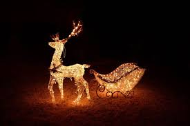 25 outdoor decoration ideas in lighted reindeer and sleigh