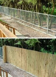 chain link fence bamboo slats. Beautiful Bamboo Itu0027s MUCH Easier And Thousands Less Than Replacing The Chain Link Intended Chain Link Fence Bamboo Slats E