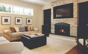 fireplace with arched doors under tv