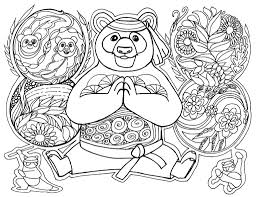 Floral coloring pages for adults. Adult Coloring Pages Panda Designs Free Printable Sheets
