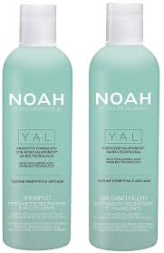 amazon noah hair yal hydrating shoo and conditioner set with hyaluronic acid hair care for natural beauty 8 5 fl oz 250 ml each beauty