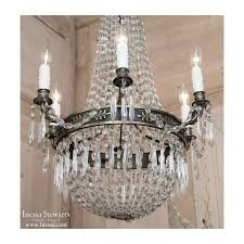 antique french empire sack of pearls chandelier inessa stewarts regarding new household chandelier with pearls remodel
