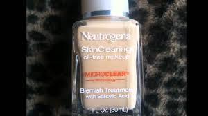 neutrogena skin clearing oil free makeup microclear ivory