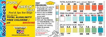 Pool Chemical Testing Chart Chlorine Test Strips Color Chart Bedowntowndaytona Com