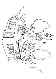 Small Picture Coloring page house on fire img 8176