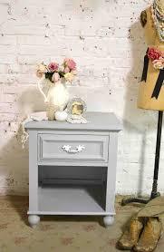 Shabby chic nightstand White Nightstand Painted Cottage Chic Modern Night Table Ebay Shabby Chic Night Stands