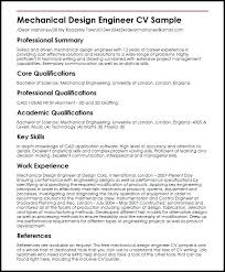 Sample Resume Of A Mechanical Engineer Best Solutions Of Mechanical