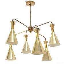cone shades sputnik style chandelier light fixture for