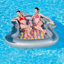 double designer lounge inflatable pool float co uk toys