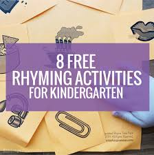 8 Free Rhyming Activities for Kindergarten | KindergartenWorks