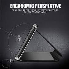 Dành Cho OPPO F7 F9 Cao Cấp Cảm Ứng Thông Minh 3D Gương Lật Dành Cho OPPO  A5 A3S A59 F1S A83 A3 Chống Sốc ốp Da Đứng Bao Da R11